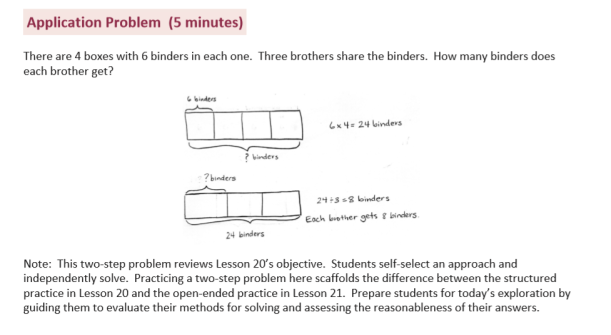 Grade 3 Word Problem with Tape Diagram