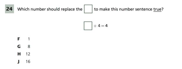 True Number Sentence Problem